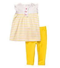 Carter's® Baby Girls' Yellow Striped 2-pc. Pants Set