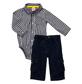 Carter's® Baby Boys' Navy 2-pc. Woven Bodysuit and Pants Set
