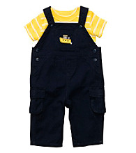 Carter's® Baby Boys' Navy/Yellow Overall Set