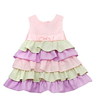 Rare Editions® Baby Girls' Pink/Lilac/Green Tier Dress