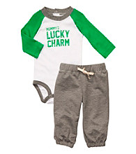Carter's® Baby Boys' Green/Grey Lucky Charm Set