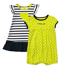 Carter's® Baby Girls' Navy/Lime 2-pk. Romper and Dress
