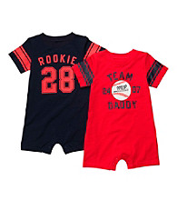 Carter's® Baby Boys' Red 2-pk. Baseball Rompers
