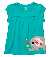 Carter's® Baby Girls' Teal Short Sleeve Elephant Babydoll Top