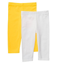 Carter's® Baby Girls' Yellow/White 2-pk. Capri Leggings
