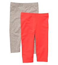 Carter's® Baby Girls' Orange/Grey 2-pk. Capri Leggings