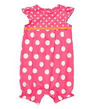 Carter's® Baby Girls' Pink Polka-Dot Romper