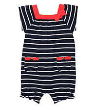 Carter's® Baby Girls' Navy/White Striped Romper