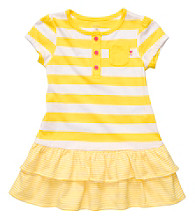 Carter's® Baby Girls' Yellow/White Striped Tier Dress
