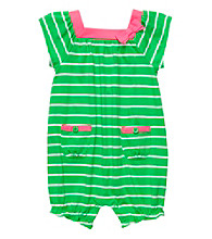 Carter's® Baby Girls' Green/White Striped Romper