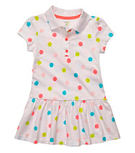 Carter's® Baby Girls' White Polka-Dot Collared Dress