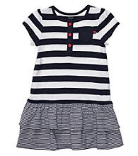 Carter's® Baby Girls' Navy/White Striped Dress