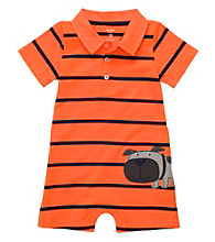 Carter's® Baby Boys' Orange Striped Dog Romper