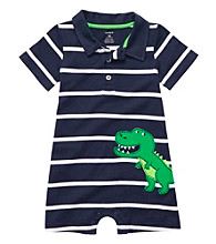 Carter's® Baby Boys' Navy Striped Alligator Romper