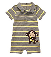 Carter's® Baby Boys' Grey Striped Monkey Romper