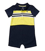 Carter's® Baby Boys' Navy/Yellow Polo Romper