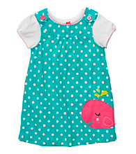 Carter's® Baby Girls' Turquoise Polka-Dot Whale Jumper Set