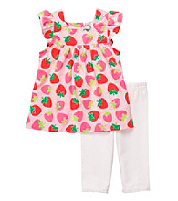 Carter's® Baby Girls' Pink Strawberry Print Capri Set