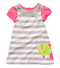 Carter's® Baby Girls' Grey Striped Fish Jumper Set