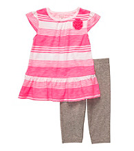 Carter's® Baby Girls' Pink Striped Capri Set