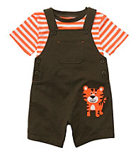 Carter's® Baby Boys' Olive Tiger Shortall Set