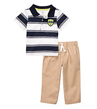 Carter's® Baby Boys' Navy/Khaki Polo and Pants Set
