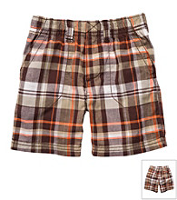Carter's® Baby Boys' Brown/Orange Plaid Shorts