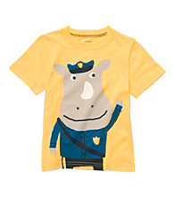 Carter's® Baby Boys' Yellow Police Rhino Tee
