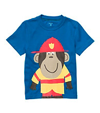 Carter's® Baby Boys' Blue Fireman Monkey Tee