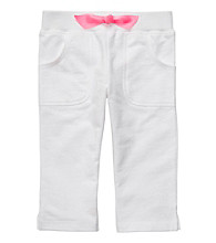 Carter's® Baby Girls' White Capri Pants