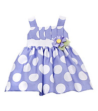 Rare Editions® Girls' 2T-6X Periwinkle Polka-Dot Shantung Dress