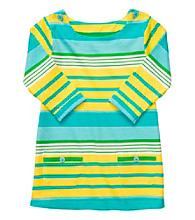 Carter's® Girls' 4-6X Yellow/Blue Striped 3/4 Sleeve Knit Tunic