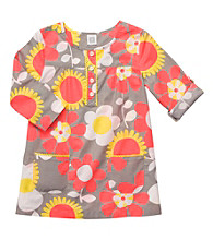 Carter's® Girls' 4-6X Grey Floral 3/4 Sleeve Woven Tunic
