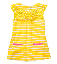 Carter's® Girls' 4-6X Yellow/White Striped Short Sleeve Tunic