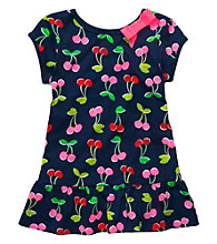 Carter's® Girls' 4-6X Navy Short Sleeve Cherry Print Tunic