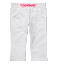Carter's® Girls' 4-6X White French Terry Capris