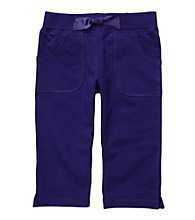 Carter's® Girls' 4-6X Purple French Terry Capris