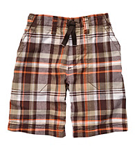 Carter's® Boys' 2T-7 Brown Plaid Pull On Shorts