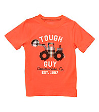 Carter's® Boys' 2T-7 Orange Short Sleeve Tough Guy Tee