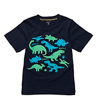 Carter's® Boys' 2T-4T Navy Short Sleeve Dinos Tee