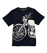 Carter's® Boys' 4-7 Navy Short Sleeve Motorcycle Tee