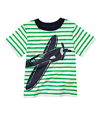 Carter's® Boys' 2T-7 Green Striped Short Sleeve Airplane Tee