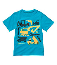 Carter's® Boys' 2T-4T Blue Short Sleeve Dump Trucks Tee