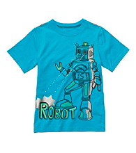 Carter's® Boys' 4-7 Blue Short Sleeve Robot Tee
