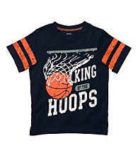 Carter's® Boys' 2T-7 Navy Short Sleeve King of Hoops Tee