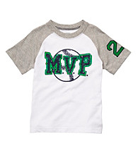 Carter's® Boys' 2T-7 White/Grey Short Sleeve MVP Raglan Tee
