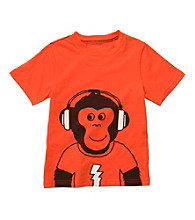 Carter's® Boys' 2T-7 Orange Short Sleeve Monkey with Headphones Tee