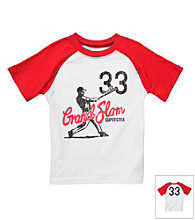 Carter's® Boys' 2T-7 White/Red Short Sleeve Grand Slam Raglan Tee