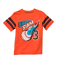 Carter's® Boys' 2T-7 Orange Short Sleeve Grand Slam Tee