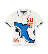 OshKosh B'Gosh® Boys' 2T-4T White Short Sleeve Shark Pique Polo
